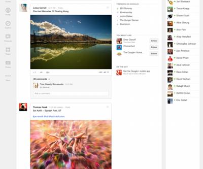 Google Plus ara yüzünü değiştirdi