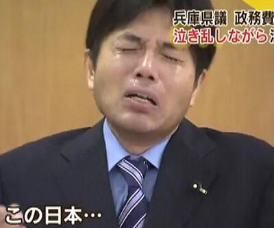 Japon siyasetçi kürsüde hüngür hüngür ağladı!
