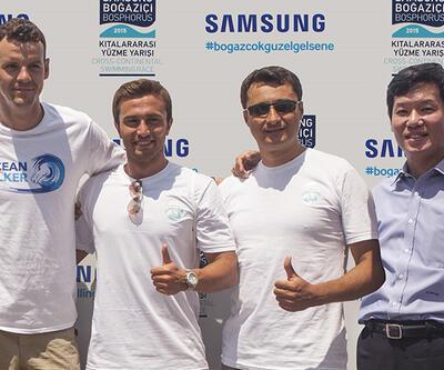 """Samsung Mavi Kulaçlar"" boğazı başarıyla geçti"
