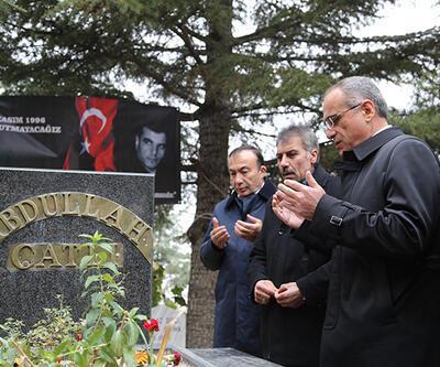 Yalçın Topçu, Abdullah Çatlı'nın mezarını ziyaret etti