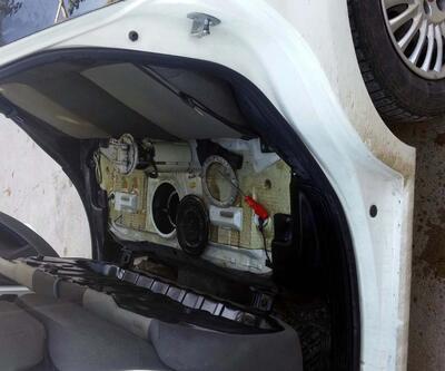 Otomobilin deposundan yakıt yerine esrar çıktı