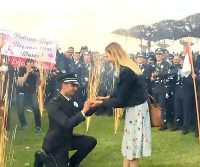 Polis Akademisi'nde evlilik sürprizi
