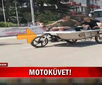 Adana'da sıcak havaya akılalmaz çare: Motoküvet