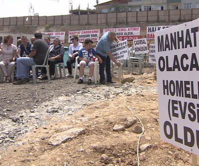 İstanbul'un göbeğinde çadırkent kurdular