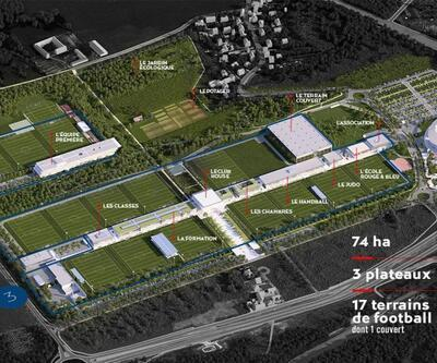 PSG 2020 yılında açılacak antrenman tesislerini tanıttı