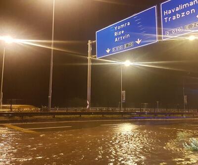 Trabzon'da sağanak hayatı olumsuz etkiledi
