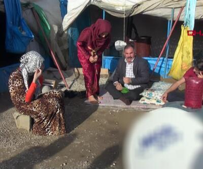 Çadırlarda yaşam mücadelesi