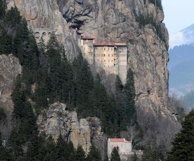Sümela Manastırı'nda teleferik heyecanı