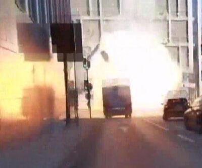 Otobüsteki patlama amatör kamerada