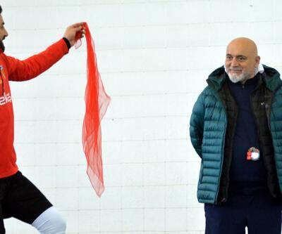 Kayserispor'da neşeli antrenman
