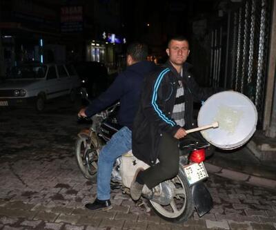 Motorize ramazan davulcuları
