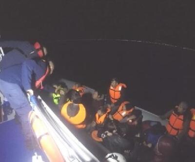 Çanakkale'de lastik botta 34 kaçak göçmen yakalandı