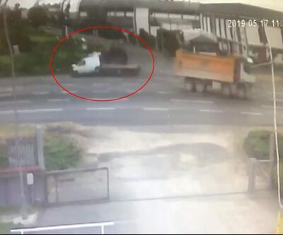 Kalp krizi geçiren sürücünün yaptığı kaza kamerada