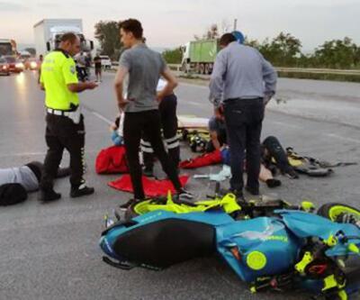 Motosiklet kamyona çarptı: 2 yaralı