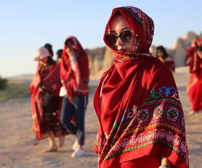 Türkiye tatili ile ödüllendirilen Çinli kadınlar Kapadokya'da