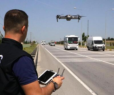 İstanbul'da 'drone'lu bayram trafiği denetimi