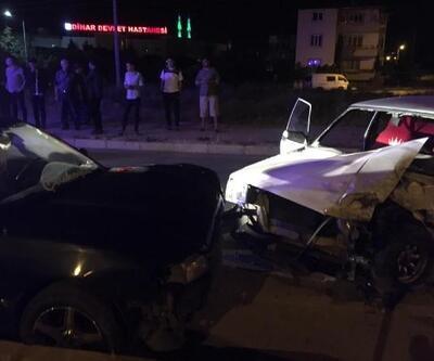 Dinar'da kaza: 2 yaralı