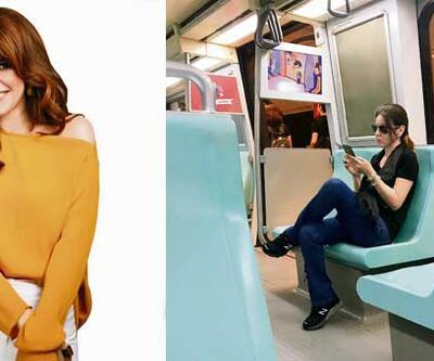 Ünlü oyuncu metroda görüntülendi