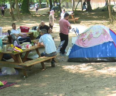 Tatili fırsat bilen İstanbullular soluğu Belgrad Ormanı'nda aldı
