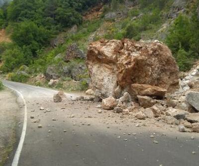Dev kaya yola düştü