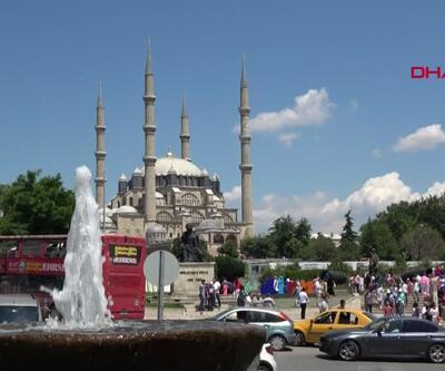 Edirne'de bayram yoğunluğu