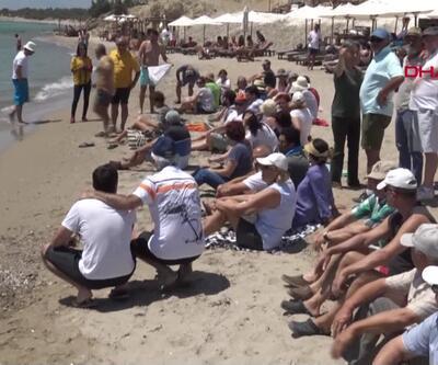 İzmir'de plaj protestosu