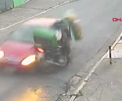 Bu kazadan yara almadan kurtuldu