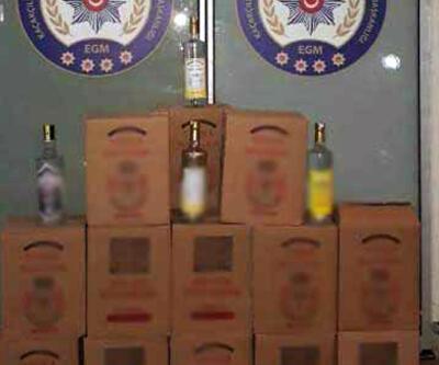 Marmaris'te 6 bin 890 kaçak ve sahte içki ele geçirildi