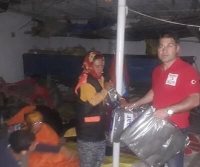 Akşehir'de yağmurda mağdur olan tarım işçilerine yardım yapıldı