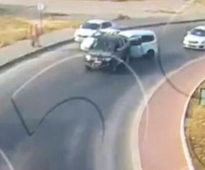 Trafikte kavga MOBESE'ye yakalandı