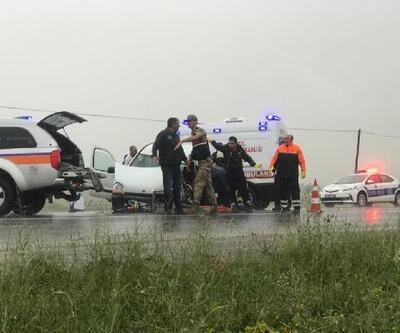 TIR'la çarpışan aracın sürücüsü öldü, eşi yaralı