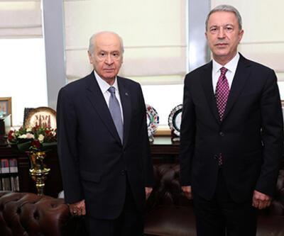 Bakan Akar'dan Bahçeli, Akşener ve Kılıçdaroğlu'na ziyaret