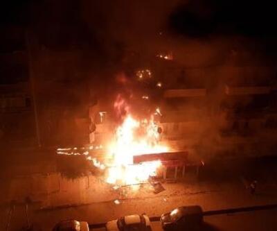 Niğde'de korkutan yangın; 1 iş yeri ile 4 daire zarar gördü