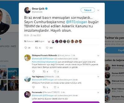 Erdoğan, Askerlik Kanunu'nu imzaladı
