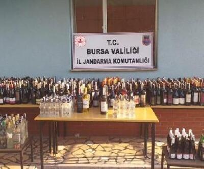 Bursa'da jandarmadan sahte alkol uygulaması; 436 litre sahte içki ele geçirildi