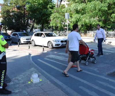 Yayalara yol vermeyen sürücülere 126 bin lira ceza