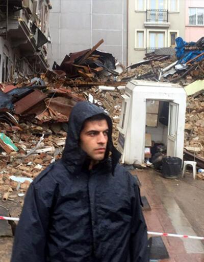 Beyoğlu'nda çökmenin yaşandığı sokaktan kareler
