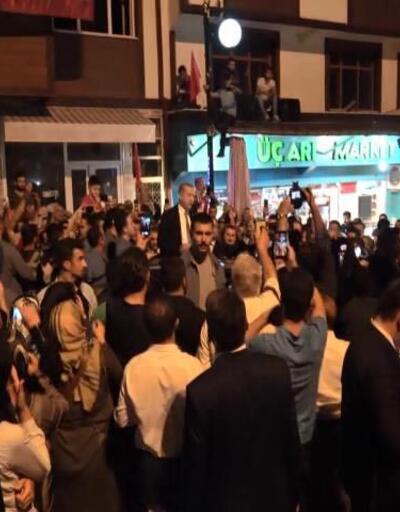 Tatil için memleketine gelen Cumhurbaşkanı Erdoğan'a coşkulu karşılama