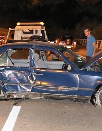 Kazadan yara almadan kurtuldu, otomobildeki hasar için gözyaşı döktü