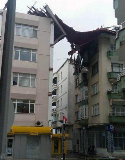 Şiddetli rüzgar bu hale getirdi
