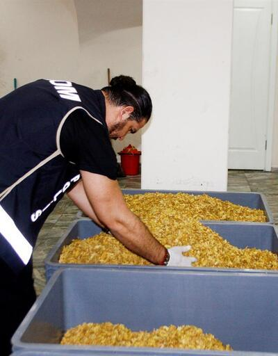 5,5 ton kaçak nargile tütünü ele geçirildi