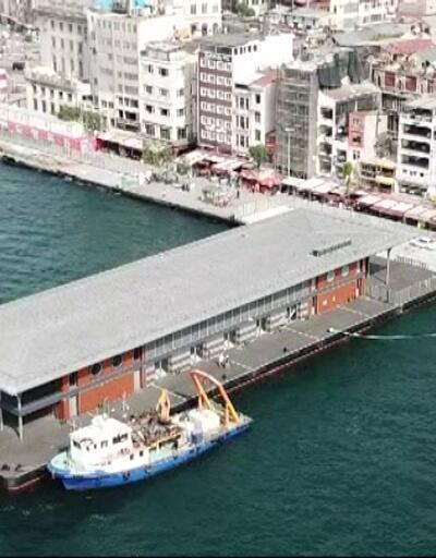 Yeni Karaköy İskelesi havadan görüntülendi