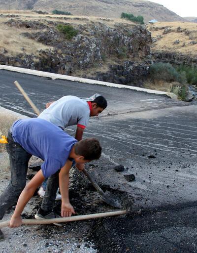 Tepki geldi tarihi köprüye dökülen asfalt söküldü