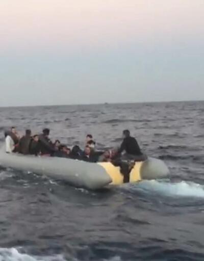 Didim açıklarında 32 göçmen botta yakalandı