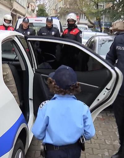 Doğum gününde polislerden müthiş sürpriz