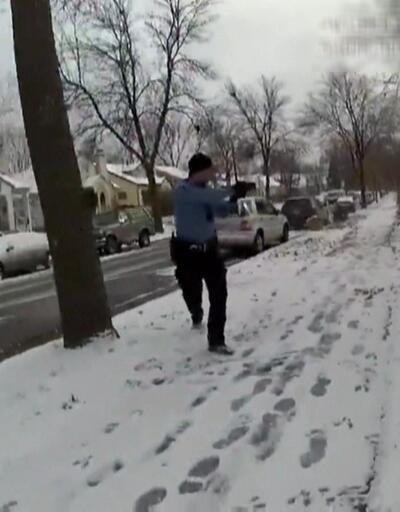 ABD polisi şüpheliye kurşun yağdırdı!