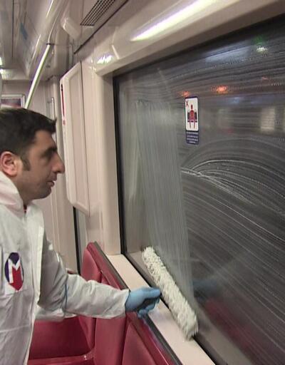 İstanbul metrosu böyle temizleniyor!