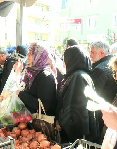 İstanbul'da tanzim satış noktalarına yoğun ilgi