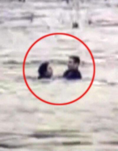 Kahraman polis nehre atlayan kadını kurtardı