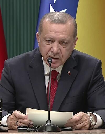 Erdoğan-Dodik-Caferoviç ortak basın toplantısı
